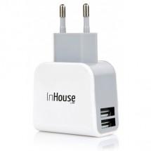 InHouse MKF-AC21USB sieťová USB nabíjačka 5V/2,1A biela