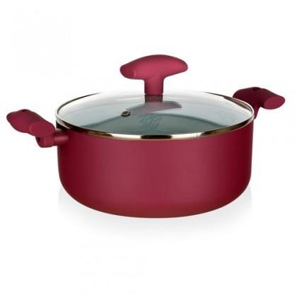 Inspira - Kastról, hliník, keramika, 28x12cm (červená, biela)