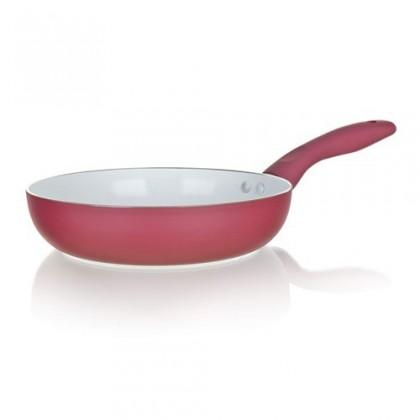Inspira - Panva, hliník, keramika, 20x4,5cm (červená, biela)
