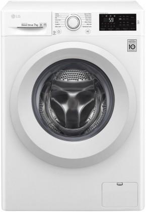 Inteligentné práčky a sušičky Práčka s predným plnením LG F70J5QN3W, A+++-30%, 7 kg