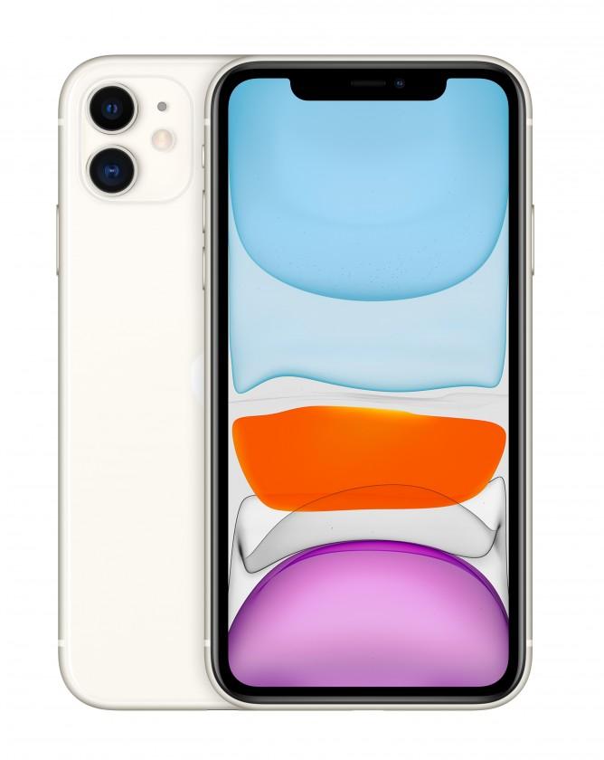 iOS Mobilný telefón Apple iPhone 11 128GB, biela