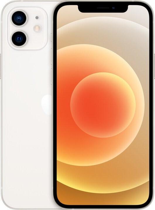 iOS Mobilný telefón Apple iPhone 12 128GB, biela