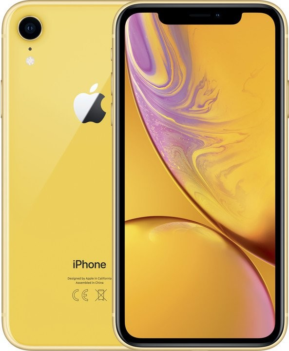 iOS Mobilný telefón Apple iPhone XR 64GB, žltá