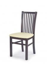 Jacek - Jedálenská stolička (krémová, tmavý orech)