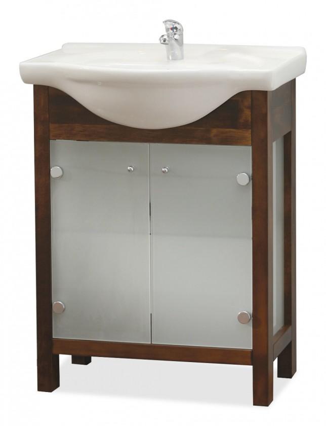 Jana - Umývadlový set (jelša, mliečne sklo)