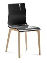 Jedálenská stoličk Gel-l (čierna lesk) - II. akosť