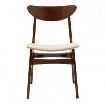 Jedálenská stolička Abbi orech, béžová