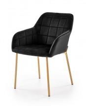 Jedálenská stolička Belen (látka, kov, čierna)