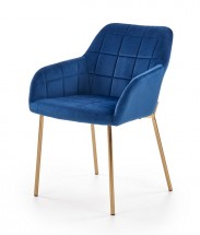 Jedálenská stolička Belen (látka, kov, modrá)