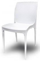 Jedálenská stolička Boheme (bianco) - II. akosť