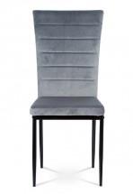 Jedálenská stolička Borge sivá/čierna