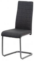 Jedálenská stolička Chip sivá/čierna
