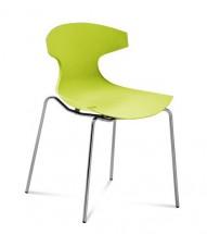 Jedálenská stolička Echo zelená