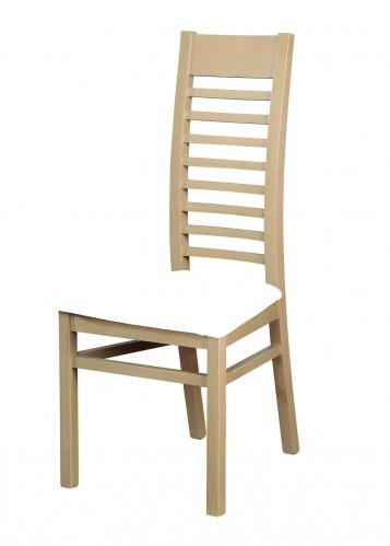 Jedálenská stolička Eryka (drevo - dub sonoma / poťah - syntetická koža).