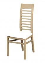 Jedálenská stolička Eryka (drevo - dub sonoma / poťah - syntetická koža)