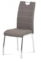 Jedálenská stolička Gasela hnedá/chróm