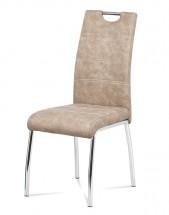 Jedálenská stolička Gasela krémová/chróm