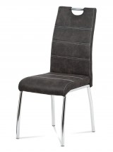 Jedálenská stolička Gasela sivá/chróm