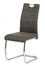 Jedálenská stolička Grama antracit/chróm