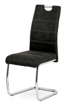 Jedálenská stolička Grama čierna/chróm