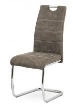Jedálenská stolička Grama hnedá/chróm