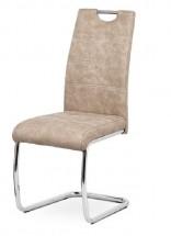 Jedálenská stolička Grama krémová/chróm