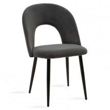 Jedálenská stolička Janet čierna, sivá