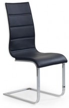 Jedálenská stolička K104 eko koža, čierna,biela - II. akosť