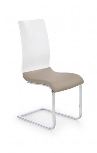Jedálenská stolička K198 biela, béžová