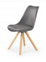 Jedálenská stolička K201 (sivá, buk) - ROZBALENÉ