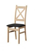 Jedálenská stolička Kasper dub sonoma, čierna