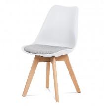 Jedálenská stolička Lupa biela, sivá
