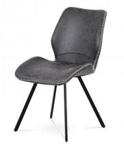 Jedálenská stolička Maddy sivá, čierna