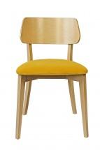 Jedálenská stolička Medal dub, žltá