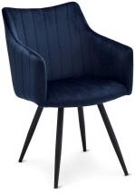 Jedálenská stolička Mijas modrá, čierna