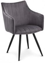 Jedálenská stolička Mijas sivá, čierna