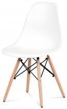 Jedálenská stolička Mila biela