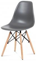 Jedálenská stolička Mila sivá