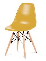 Jedálenská stolička Mila (žltá)