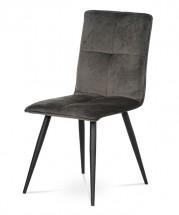 Jedálenská stolička Sanne sivá, čierna