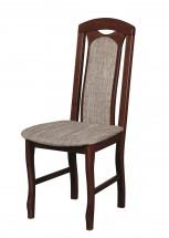 Jedálenská stolička Set 18 hnedá, sivá