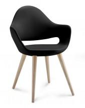 Jedálenská stolička Soft-L  (čierna) - II. akosť