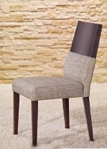 Jedálenská stolička Timoteo sivá, wenge