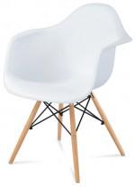 Jedálenská stolička Toxic biela