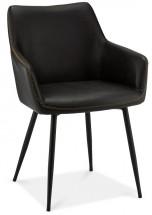 Jedálenská stolička Zalea čierna
