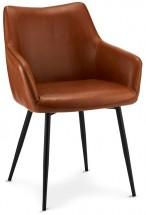 Jedálenská stolička Zalea hnedá, čierna