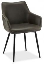 Jedálenská stolička Zalea sivá, čierna