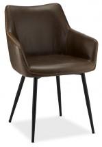 Jedálenská stolička Zalea tmavo hnedá, čierna