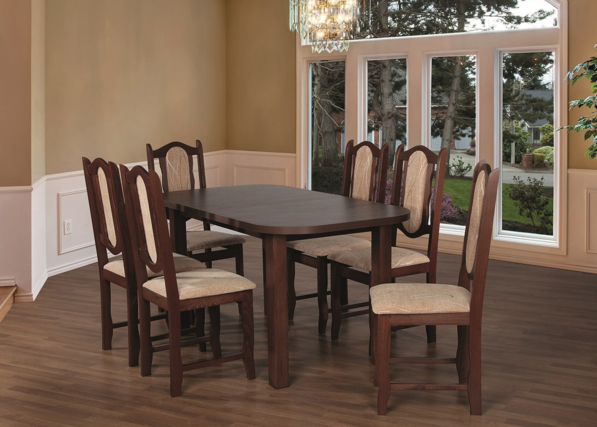 Jedálenské sety Jedálenský set 27 - Stôl 150x80,6x stolička (orech/monako 2A)