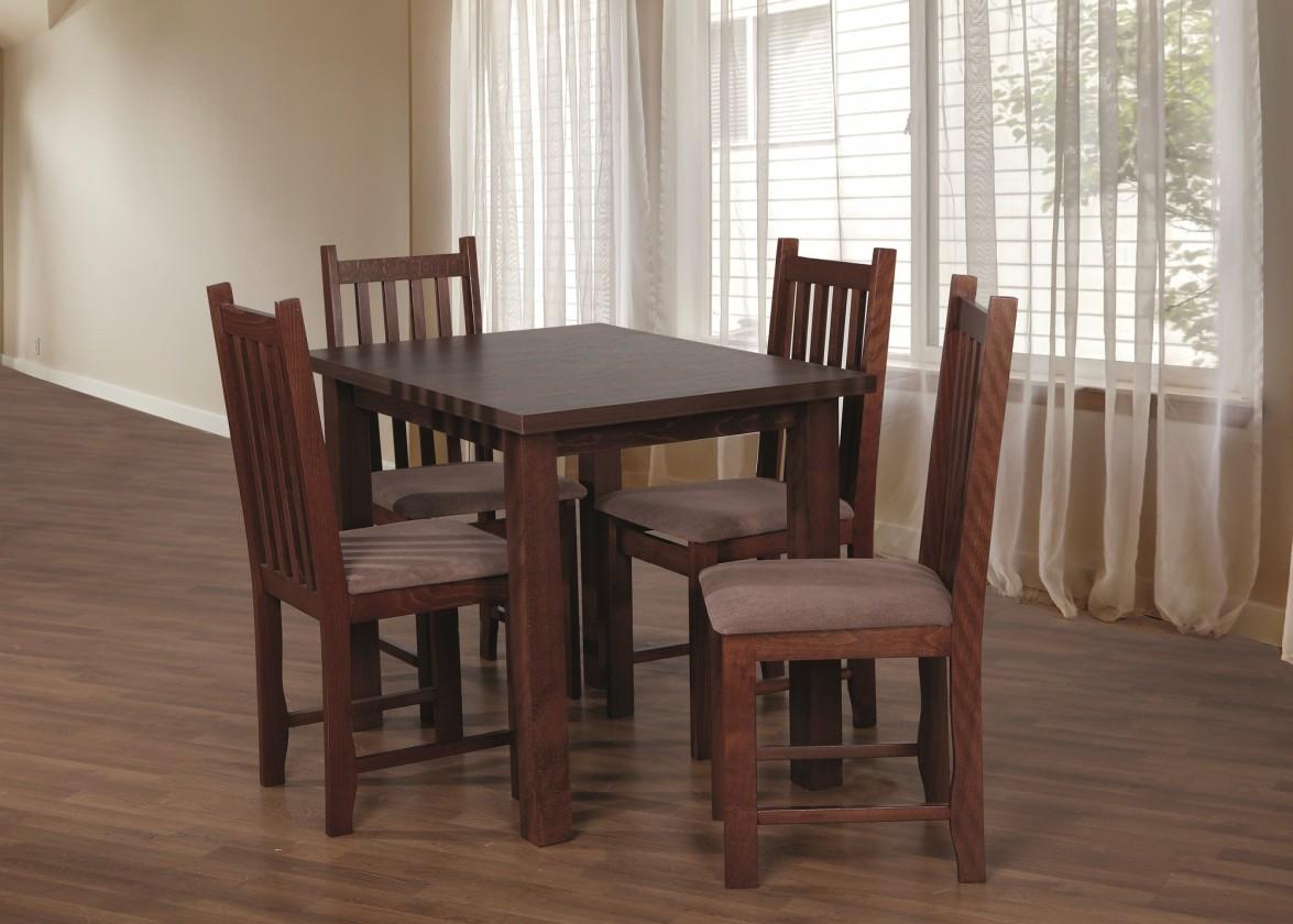 Jedálenské sety Jedálenský set 31 - Stôl 100x70, 4x stolička (orech/aston 5)